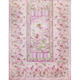 PETAL FAIRIES QUILT WITH PILLOW SHAM