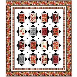 """Picturesque Blooms Quilt by Wendy Sheppard /75.5""""x87.5"""""""