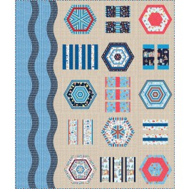 "A Day at the Beach Quilt by Everyday Stitches 76""x90"""