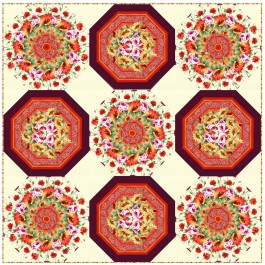 """Pots of Posies Quilt by Christine Stainbrook /90""""x90"""""""
