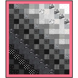 """Shades in Between Quilt by Denise Russell of Pieced Brain /60""""x69"""""""