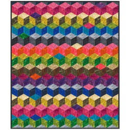 Tumbling Blocks Quilt by Marsha Evans Moore /45-3/4x53-3/4""