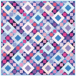 "Fairy Frost Twilight Sky Quilt by Heidi Pridemore /62.5""x62.5"""