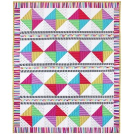 "Rainbow Girls crib Quilt by Marinda Stewart /36""x45"""