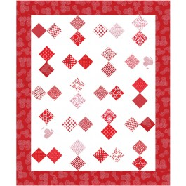 Red and White Quilt by Susan Emory