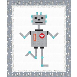 """Robbie Robot Quilt by Susan Emory /62""""x74"""""""