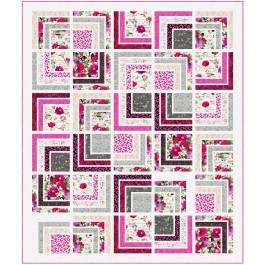 """Romantic Pathways Quilt by Wendy Sheppard /70""""x83"""""""