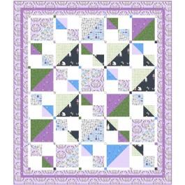 "Savannah Squares Lilac Quilt by Kate Colleran of Seams Like a Dream /65""x75"""