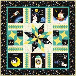 """Space Odyssey Quilt by natalie Crabtree / 50""""x50"""""""