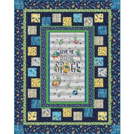 """Give Me Some Space Quilt by Heidi Pridemore /60""""x76"""""""