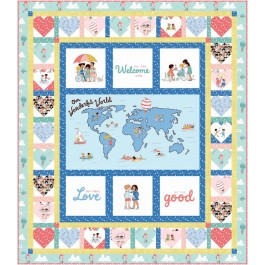"""Spread the Love Quilt by Marsha Evans Moore /55""""x63"""""""
