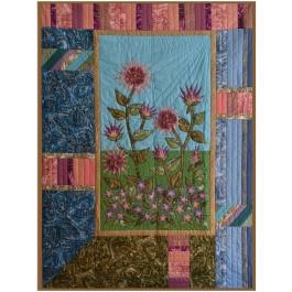 """Stardust Gardens Quilt by Marinda Stewart /40""""x54"""""""