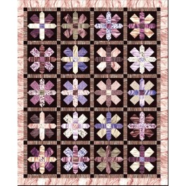 "Strata This Way & That Way Aubergine Quilt by Heidi Pridemore /61""x75"""
