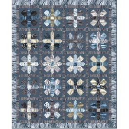 "Strata This Way & That Graphite Quilt by Heidi Pridemore /61""x75"""