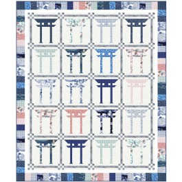 "Torii Quilt by Wendy Sheppard /74""x89"""