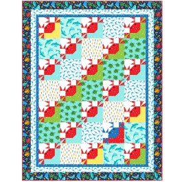 """On the Tide Quilt by Marsha Evans Moore /52.5""""x68.5"""" - Pattern Available in March, 2021"""