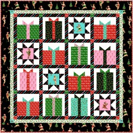 """Naughty or Nice Quilt by Marsha Evans Moore 48""""x48"""" -Pattern Available in May 2021"""
