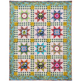 """Valencia 8 Pointed Star Quilt by Jessica Lane  / 56x70"""""""