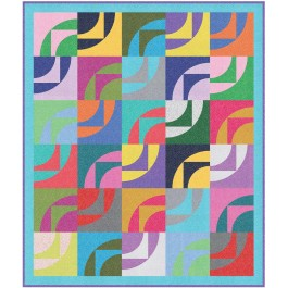 "Waves of Color Quilt by heidi Pridemore /54""x64"""