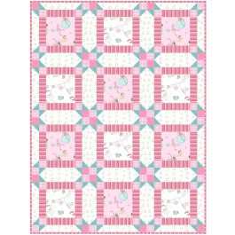 """Wee Ones Pink Quilt by Christine Stainbrook /36""""x48"""""""