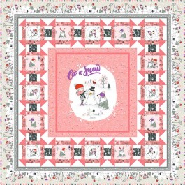 "Snow Fun Quilt by Christine Stainbrook 49""x49"" -Pattern Available February, 2021"