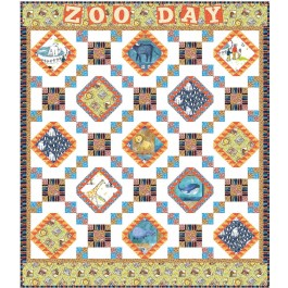 """Zoo day Quilt by Natalie Crabtree /59""""x68"""""""