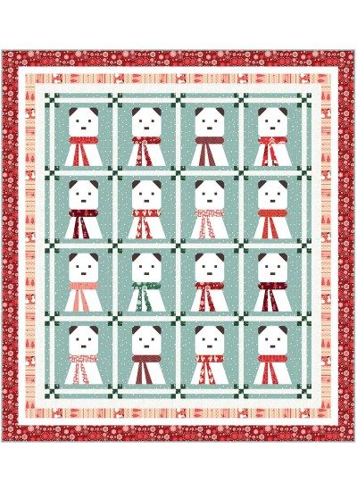 "A Beary Christmas Quilt by Wendy Sheppard / 72.5""x80.5"" - Pattern will be available in June"