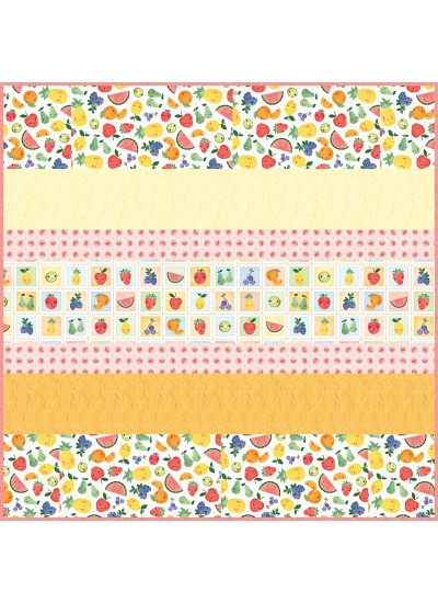 """A Bushel and a Peck MINKY Strip Quilt -57""""x57"""" - free pattern available in July"""