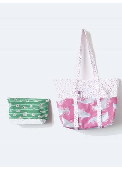 Acadia Zipper Pouch and Tote Bag