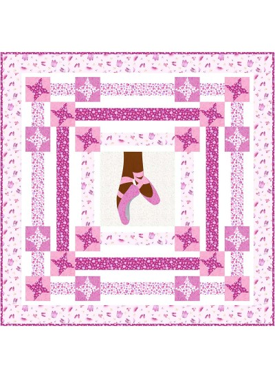 """Ballerina Quilt by Natalie Crabtree 65""""x65"""" - Pattern available in June, 2021"""