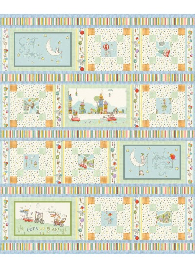 "Away We Go Quilt by Heidi Pridemore /63""x78"""