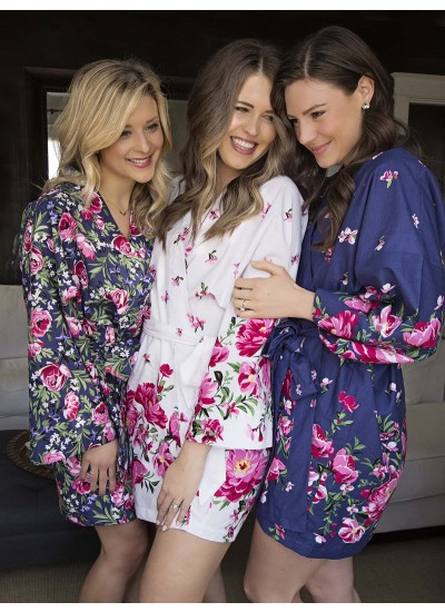 Kimono Robe by Atelier Joy featuring Bed of Roses Collection