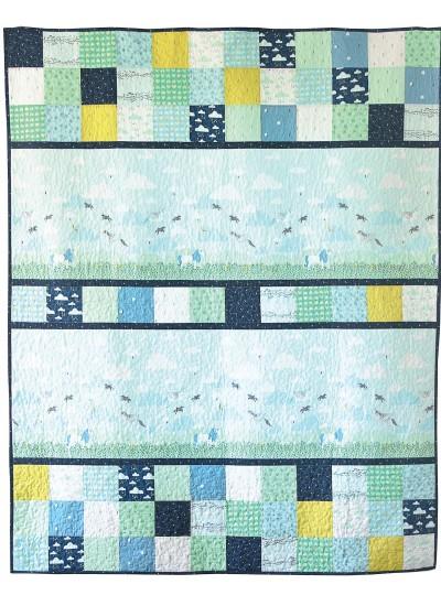 "Believe Aqua Quilt  by Sandra Clemons /60x75"""