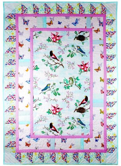 "Birds and Butterflies by Marinda Stewart - 40""x56"""