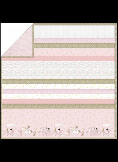 """Blossom Magical Parade - Strip Quilt /58""""x58"""""""