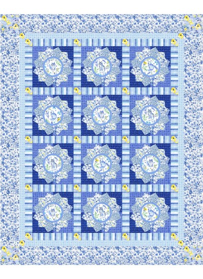 """Cat-tastic Quilt by Christine Stainbroook 68""""x85""""- pattern available in july, 2021"""