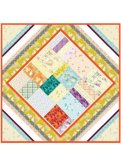 Boho Quilt by Violet Craft