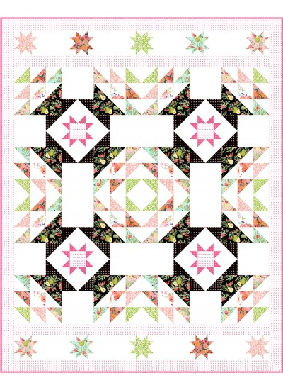 "Beautiful Morning Quilt  by: Christine Stainbrook of Project House 360 /70""x88"" - Pattern available in December, 2020"
