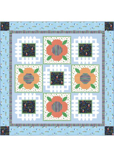 "Bunnys Garden Quily by Heidi Pridemore /64""x64"""