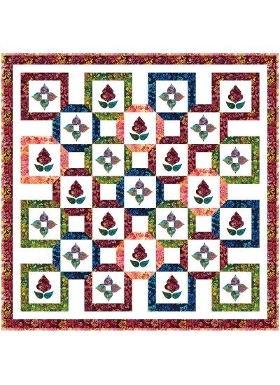 """Bustling Bazaar Quilt by Natalie Crabtree / 75-3/4""""x75-3/4"""" - Instructions Coming Soon"""