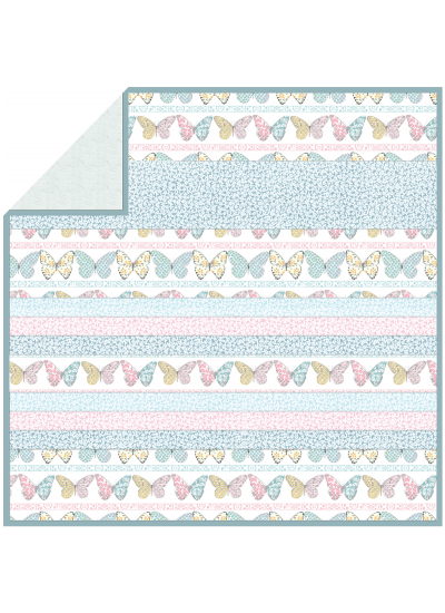 "Butterfly Row - Strip Quilt /58""x58"""