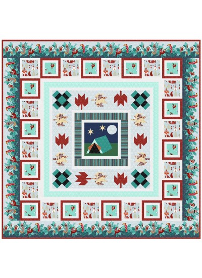 """Campground Critters Quilt by natalie Crabtree /70""""x70"""""""