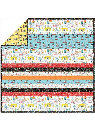 Carnival Fun - Minky Strip Quilt /58x58""