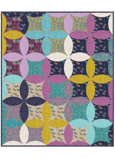 """Catching Dreams Quilt by Marsha Evans Moore /51""""x61"""""""