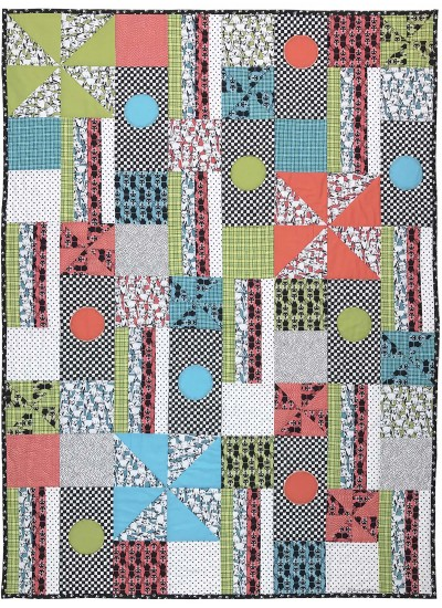 """Cats and Dogs Quilt by Marinda Stewart /40""""x55"""""""