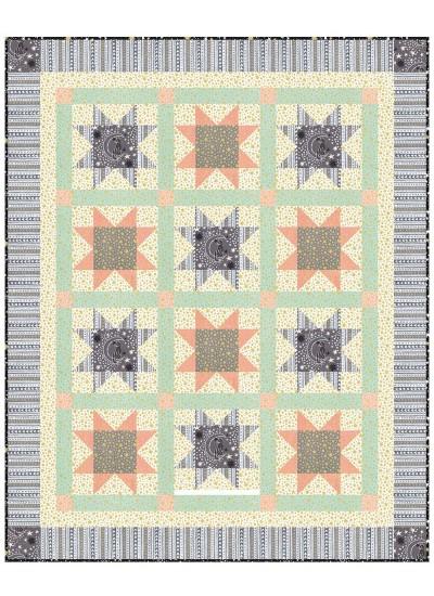 """Cat's Cradle Quilt by Heidi Pridemore   /39""""x48.5"""""""