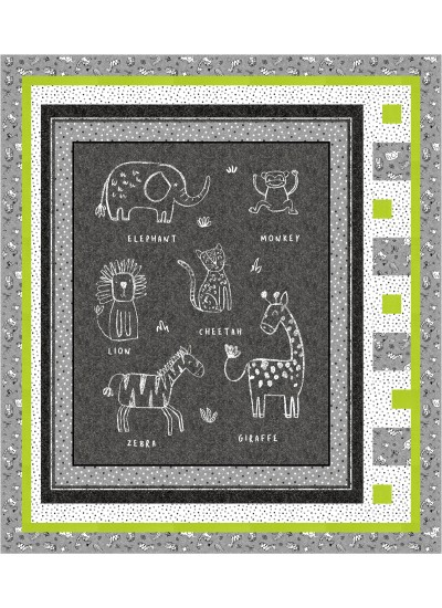 Chalkboard Animals Quilt