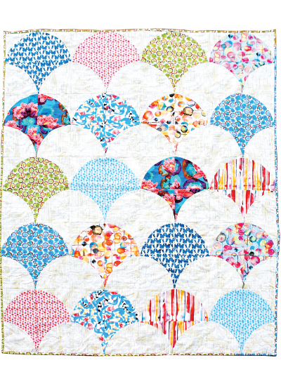 Chic Shells Quilt Pieced By Meli Mathis 65x78 Inspirations