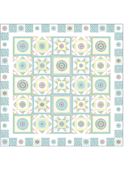 """Circle Patch Confection by Heidi Pridemore /75x75"""""""