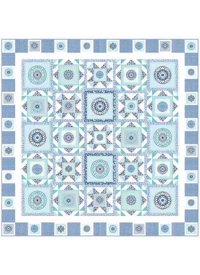 "Circle Patch Marine by Heidi Pridemore /75x75"""